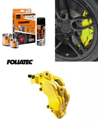 Foliatec Car Motorbike Brake Caliper Paint Kit Yellow Gloss Brush On High Temp